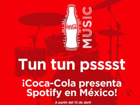 Spotify llega a México gracias Coca-Cola