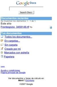 Google Docs dispone de su versión móvil