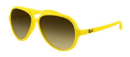 Gafas de sol Ray-Ban 5000, en llamativo color amarillo