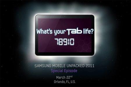 Samsung Galaxy Tab con 8.9 pulgadas y Honeycomb, será presentada el 22 de marzo