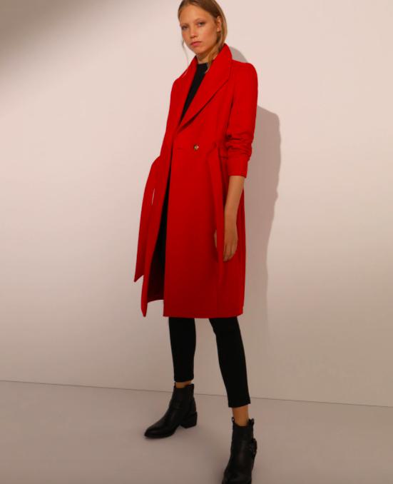 Abrigo rojo cruzado Fórmula Joven