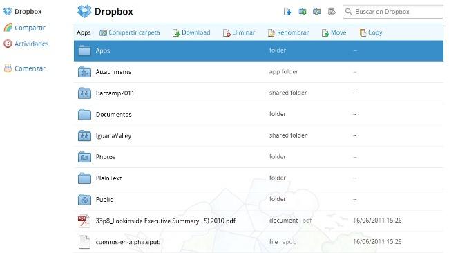 Dropbox mejora su interfaz resideñándola e incorporando un visor de imágenes y vídeos