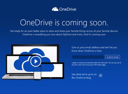Microsoft renombra su servicio de almacenamiento en la nube, de SkyDrive pasamos a OneDrive