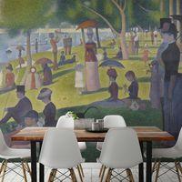 Obras de arte clásicas convertidas en papel pintado para los hogares más modernos