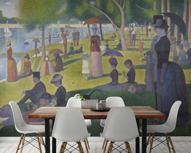 Sunday On Le Grande Jatte By Seurat Murals Wallpaper