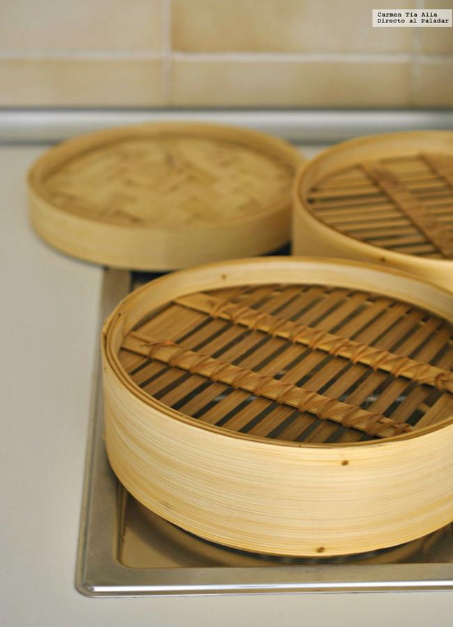 Vaporera De Bambu Escurrir