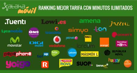 Ranking actualizado con las mejores tarifas con minutos ilimitados según cobertura