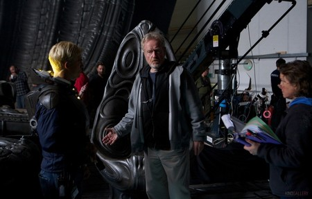 Ridley Scott Prometheus Set