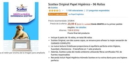 Scottex Original Papel Higienico 96 Rollos Amazon Es Salud Y Cuidado Personal