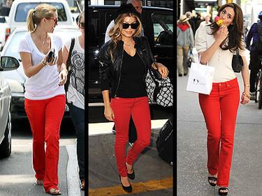 Jeans rojos, ¡cómprate unos ya!