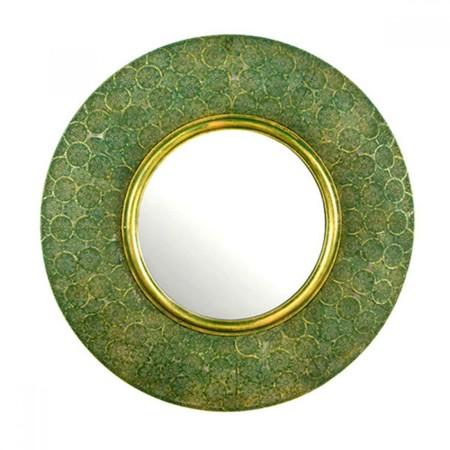 Mimub Com Espejo Metal Oro Verde Pvp 170eur