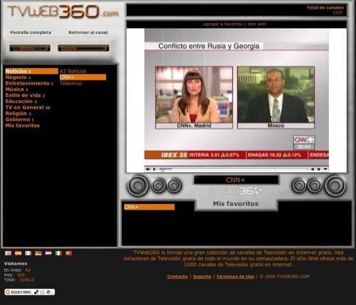 TVWeb360, otra opción para ver canales de televisión por Internet