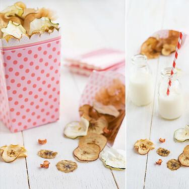Cómo hacer chips de fruta y verdura saludables para disfrutar de un snack que puedes comer estando a dieta