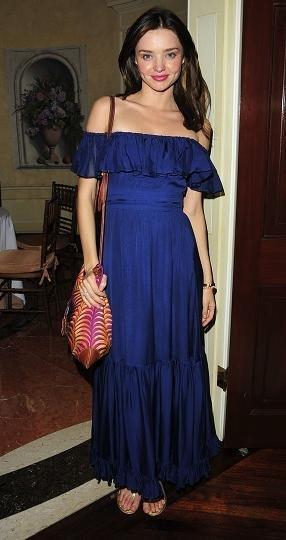 El estilo de Miranda Kerr con sus vestidos largos