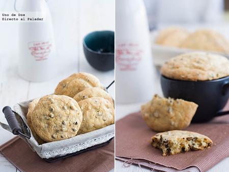 Galletas de mantequilla de cacahuete y chocolate, receta ideal para la sobremesa