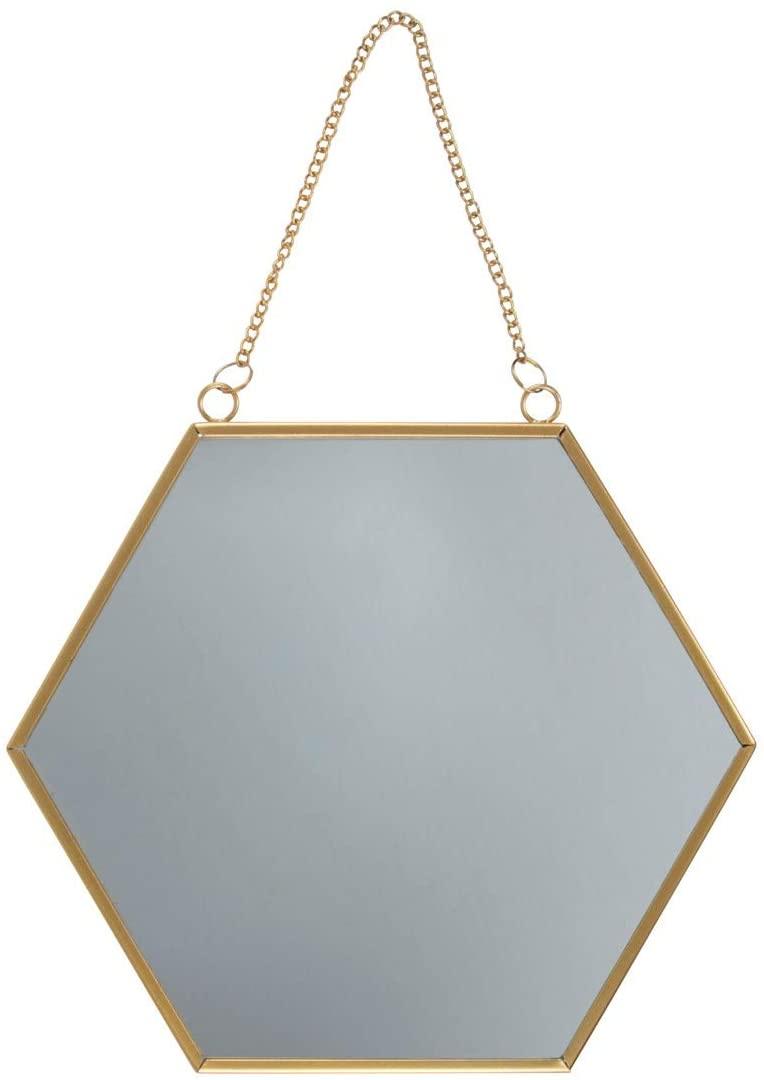 Espejo hexagonal dorado de Sass & Belle
