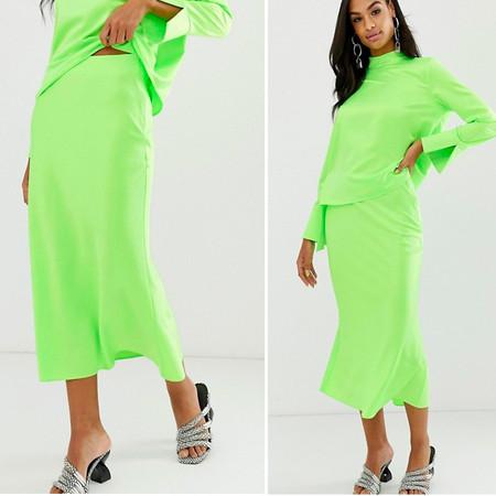 Falda Neon Verde