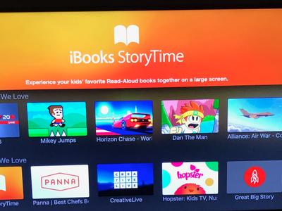 iBooks StoryTime, la app que Apple ha lanzado por sorpresa para tvOS para que los niños aprendan a leer