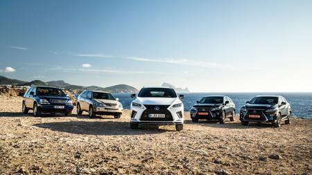 Lexus RX cinco generaciones