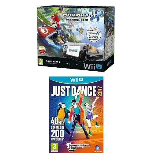 Nintendo Wii U de 32GB + Mario Kart 8 + Just Dance 2017