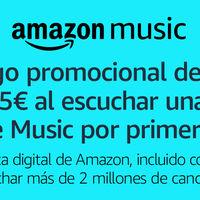Código promocional de 3 euros en Amazon Prime sólo por escuchar una canción en Prime Music