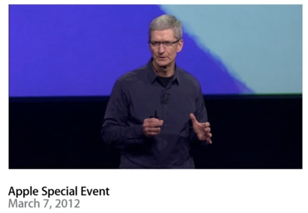 El vídeo de la keynote de Apple ya está disponible