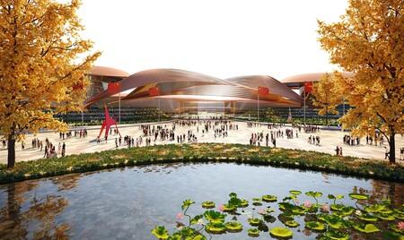 Diseño de expansión de Zaha Hadid Architects del Centro Internacional de Exposiciones en Pekín.