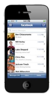 Facebook en el iPhone