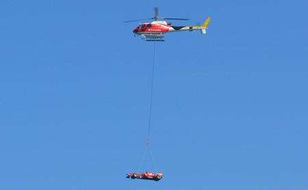 El día que un monoplaza Ferrari sobrevoló Barcelona, en vídeo