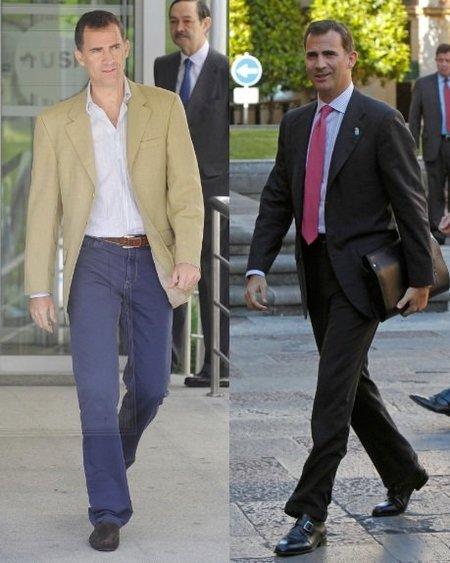 Casual o vestir, ningún look se le resiste a Don Felipe de Borbón