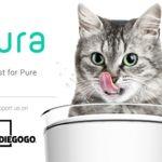 Pura es un bebedero inteligente para gatos que cuantifica el agua consumida