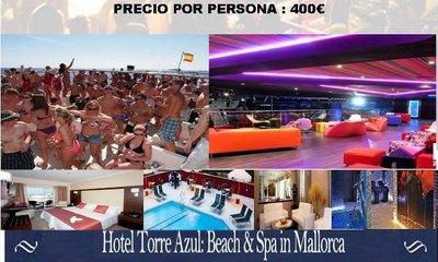 Promoción especial en el Hotel Torre Azul & Spa de Mallorca: todo incluido y entradas a las mejores discotecas