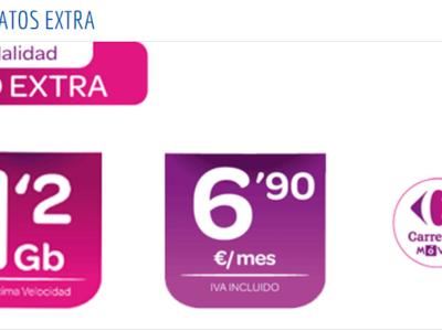 Carrefour se apunta a los bonos de datos extra para navegar a alta velocidad