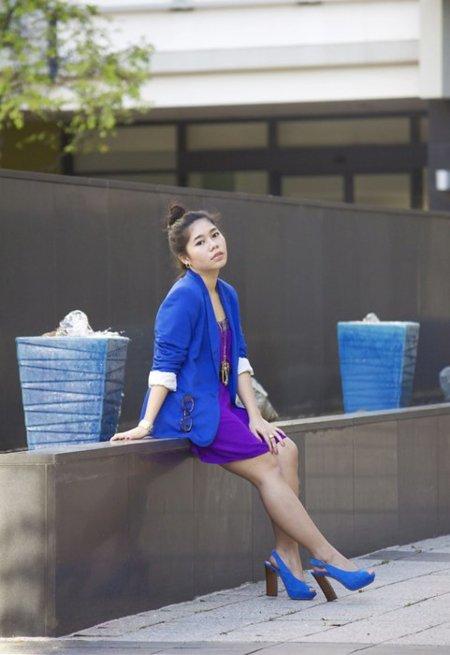 Moda en la calle malva