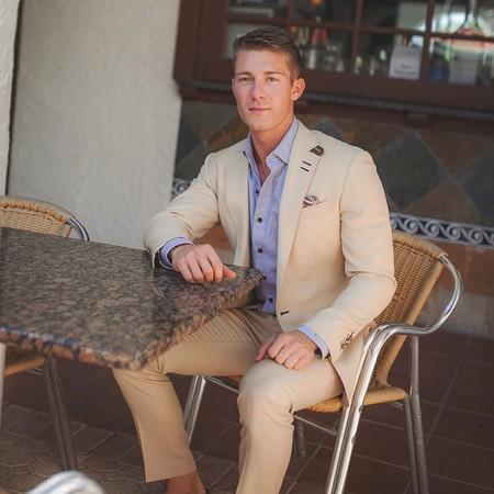 Tan Suit Men Street Style Beige Trendencias Hombre 03