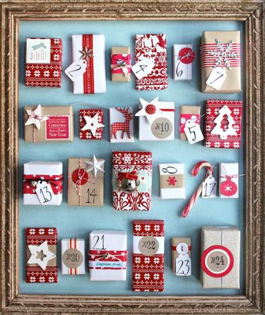 Hazlo tú mismo: calendario de Adviento con regalos