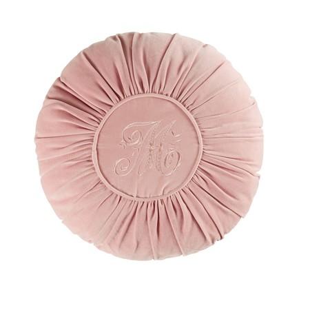 Cojin Redondo De Terciopelo Rosa D45 1000 8 18 177794 1