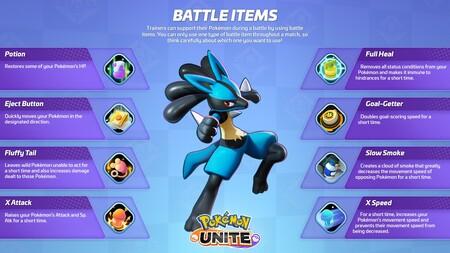 Pokemon Unite Objetos