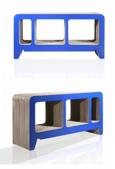 estanteria azul horizontal