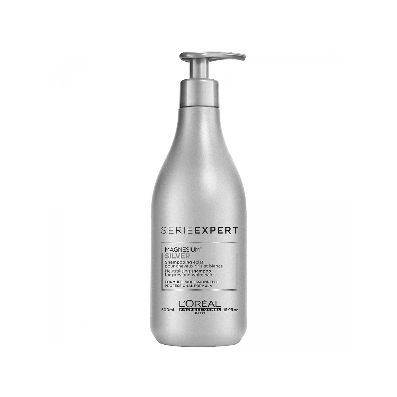 Champú matificante para cabellos blancos y grises Serie Expert Silver Shampoo de L'Oréal