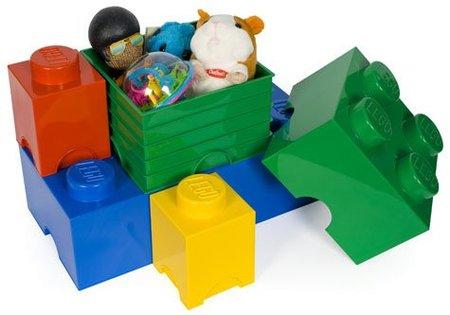 Cajas de almacenaje con forma de piezas de Lego
