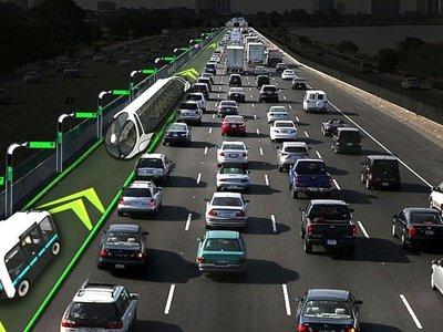 Un carril de alta velocidad exclusivo para coches autónomos como solución para aliviar el tráfico de las ciudades