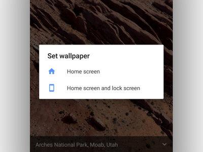 Android 7.1.2 te permite elegir dónde establecer un fondo de pantalla animado