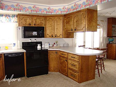 Antes y después: ganando espacio en una cocina kitsch