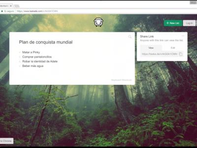 Taskade es un un gestor de tareas bonito y minimalista para añadir a la página de nueva pestaña de Chrome