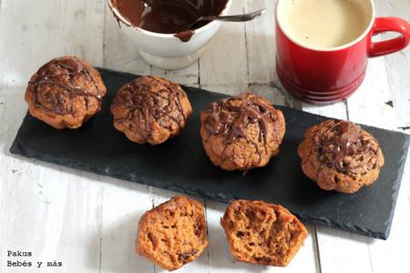 muffins zanahoria y chocolate