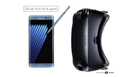 Oferta Galaxy Note 7 + Gear VR