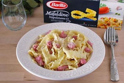 Receta de Mafaldine con salchicha
