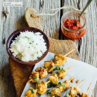 Brochetas de pollo Satay. Receta para el Verano