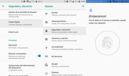 Cómo configurar la huella dactilar en Android